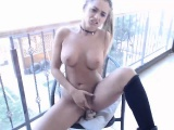 solo brunett outdoor masturbation