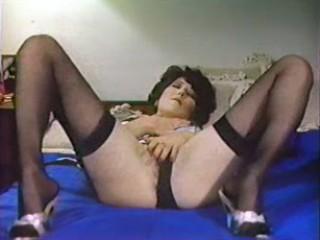 Porn Tube of Vintage Masturbation