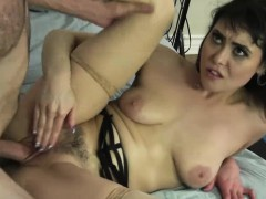 Horny Audrey Noir squirts after sex