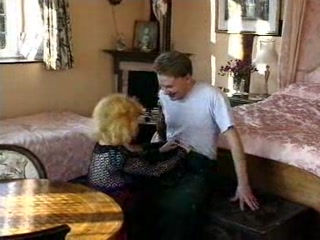 Hot German Busty Blonde Granny Cougar