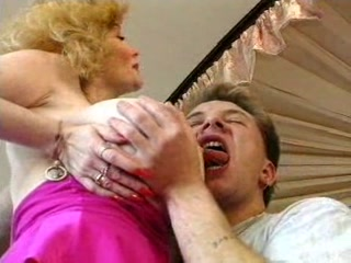 Porno Video of Hot German Busty Blonde Granny Cougar