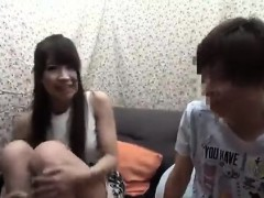 Amateur Asian teen gives blowjob outdoors