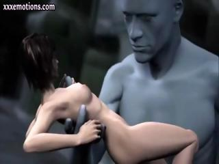 Porno Video of 3d Animated Babe Is Getting Touched And Fingered By A Giant