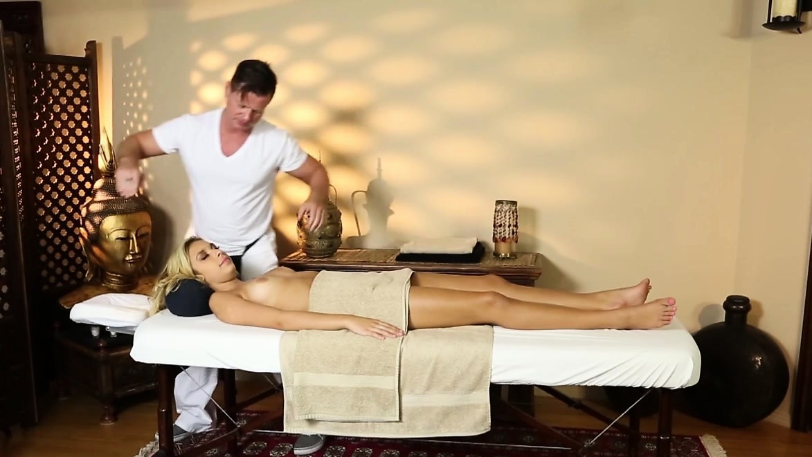 Massage Babe Doggystyled After Blowjobs