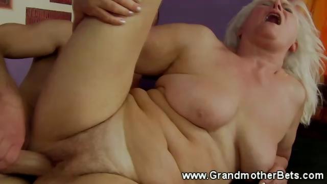 Porno Video of Blonde Granny Rides A Hard Cock