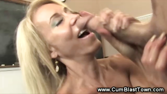 Porn Tube of Mature Teacher Wnats Her Students Hard Dick In Her Hands