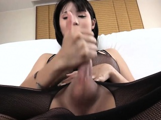 asian ts in body fellows crotchless blowjobs and masturbates