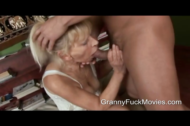 Porno Video of Young Stud Pounding A Skinny Granny