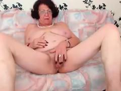 Redhead Granny Enjoying Herself on WebCam