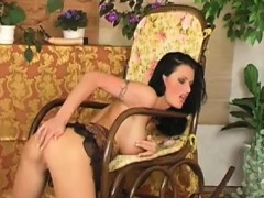 brunette mom with huge natural boobs masturbating pussy