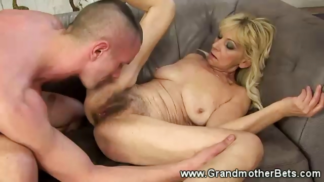 Porno Video of Granny Pussy Getting Blasted With Cock