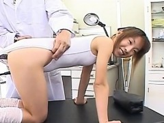 Fine japanese chick uses 10-pounder for own anal pleasures