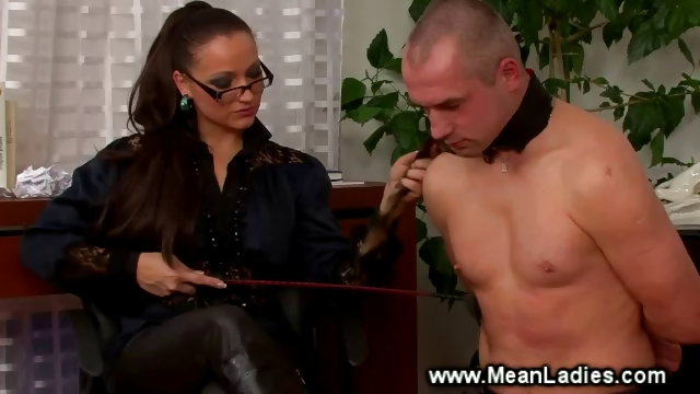 Porno Video of Domina Smoking While Spanking Servant