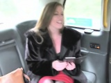 hawt slut manages to fuck on the go inside the fake taxi