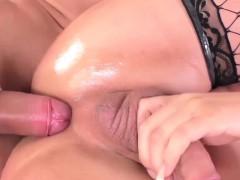 TS temptress Lara Machado fucked wearing elegant lingerie