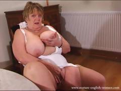 Сисястая зрелая толстая женщина