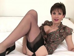 Adulterous english milf lady sonia exposes her large hooters