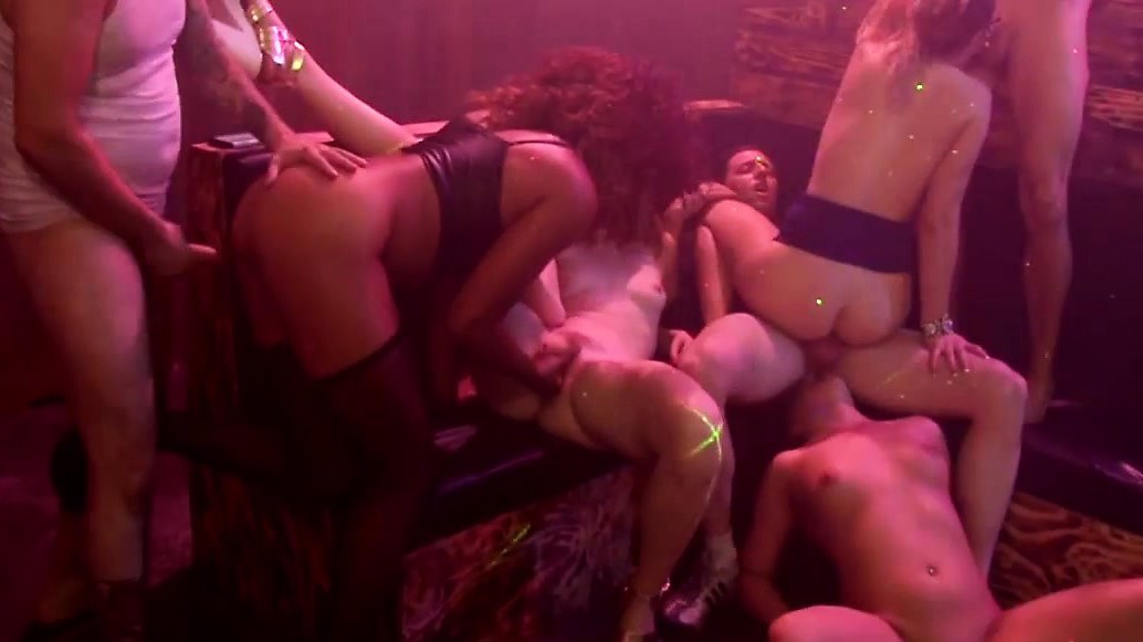 Handsome Guys Have A Steamy Interracial Orgy Party