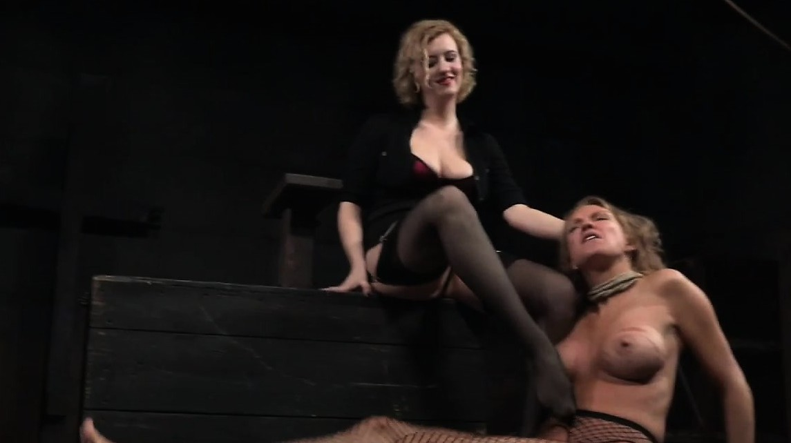Moderate Busty Milf Pissing In Bdsm Action