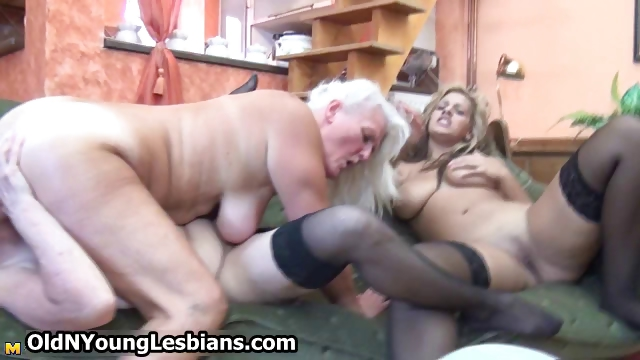 Porn Tube of Extreme Grandma Having Lesbian Sex Part4