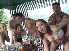 Milfs drank beer on the sexual orgy - More On HDMilfCam,com