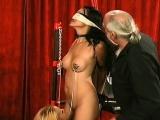 beauty enjoys intimate moments of non professional bondage