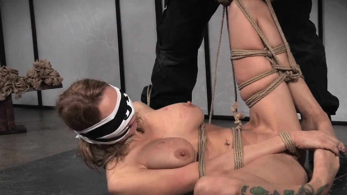 Large Sub Titted Tied And Fastened By Maledom