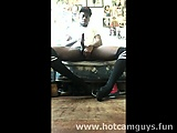 black boy masturbating in knee socks