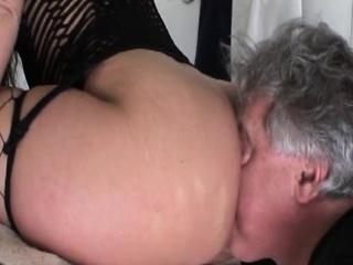 amazing ebon femdom making pussy lick white serf