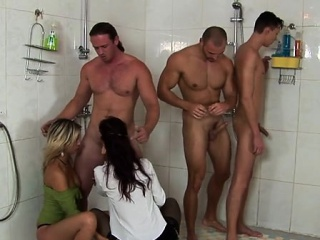 needy prostitutes suck and fuck during bisex orgy