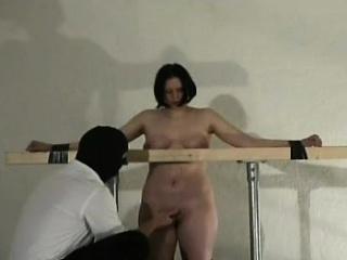 sexy scene with breast bondage