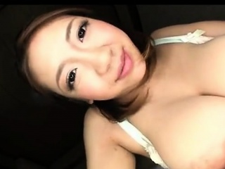 sexy busty asian girl gets her big tits sucked by her bf