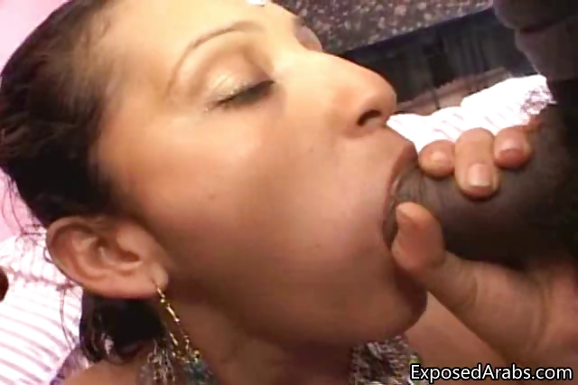 Porn Tube of Horny Arabian Girl Sucking Of Two Big Part4