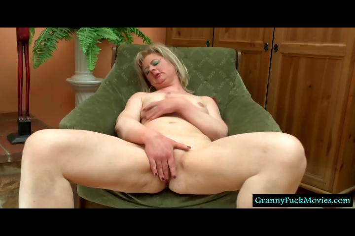 Porn Tube of Grandma Filmed Fingering And Sucking Toy