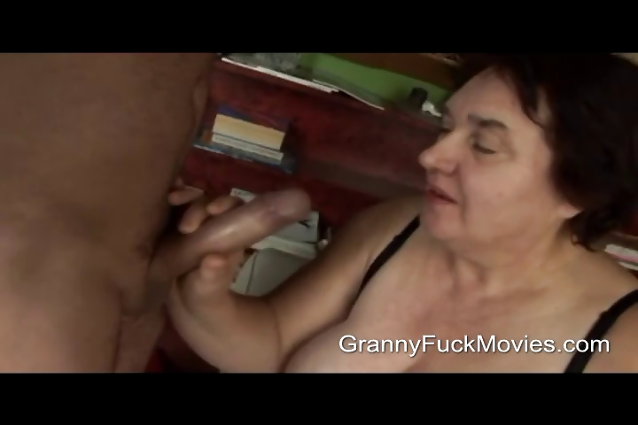 Porno Video of Ugly Fat Granny Sucking On Fresh Dick