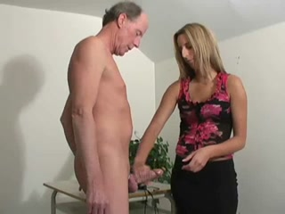 Porno Video of Hot Girl Jerked Old Men