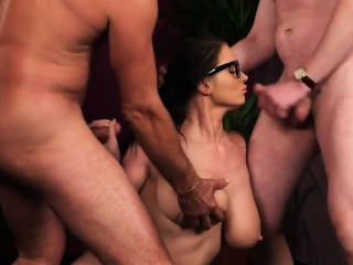 sexy babe gets cum shot on her face eat all jism66aqc