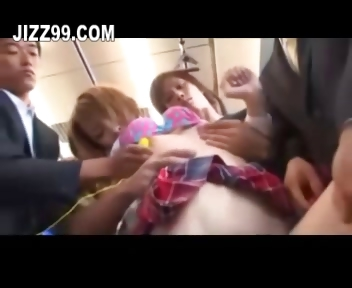Porno Video of Cute Schoolgirl Gangbang By Bus Geek