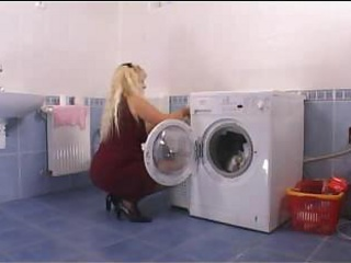Porno Video of Mother Driving Wildly In The Laundryroom