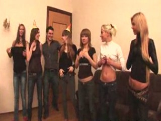 Porn Tube of Russian Students Having An Orgy