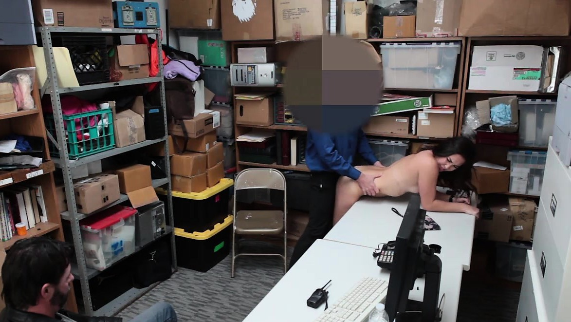 Teen Shoplifter Fucked By A Hard Dick Security Guys