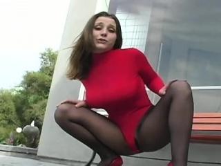 Порно черных колготках трусиках