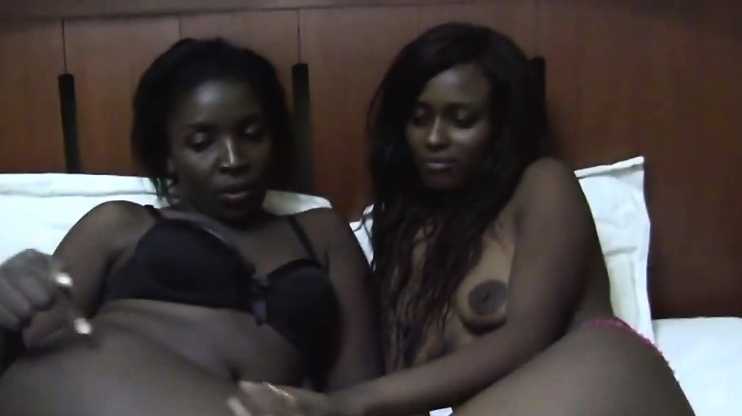 Two Very Hot Ebony Lesbian Girls Are In Their Bedroom