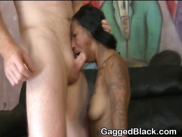 Porn Tube of Black Amateur Ghetto Slut Gets Choked With Cock
