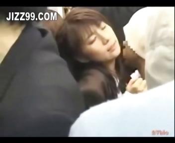 Porn Tube of Cute Schoolgirl Creampie Sex In Train