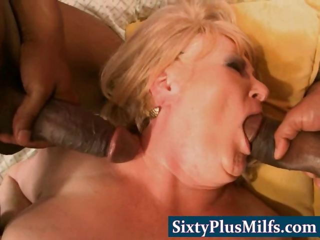 Porno Video of Big Nasty Granny In Brutal Threesome