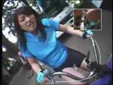 Riding Dildo-Bikes In Public