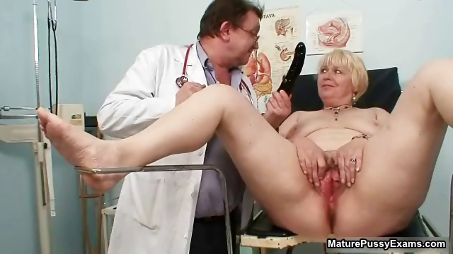 Porno Video of Blonde Grandma Gets Her Pussy Examed Part6