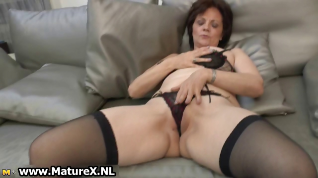 Porno Video of Natural Mature Wife In Sexy Black Part5