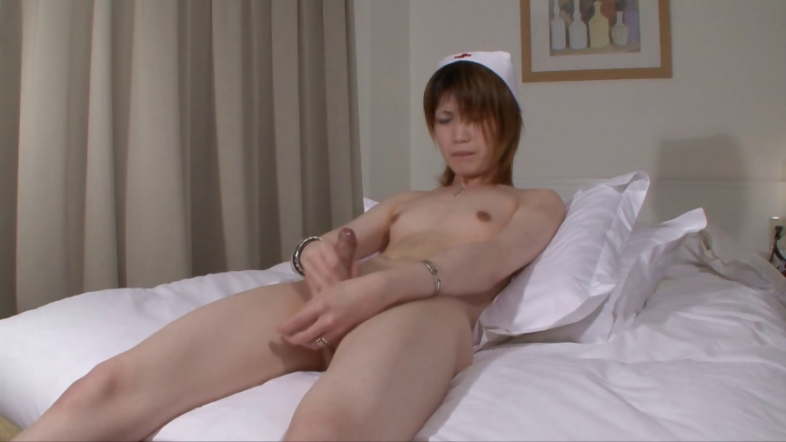 Porno Video of Japanese Shemale Nurse Cums For You